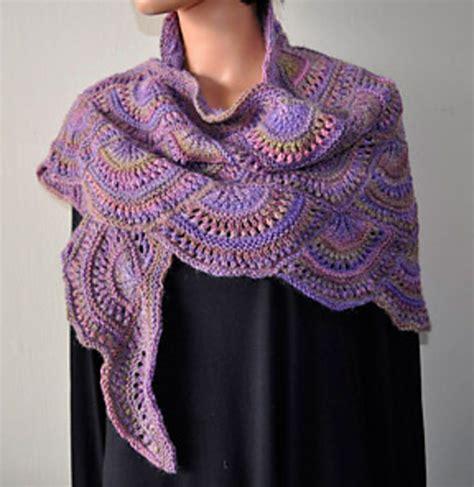 Craft Passions Fan Shawl Dk Free Knitting Pattern