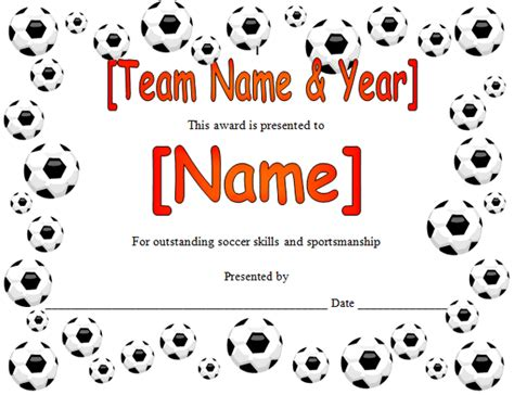 soccer certificate templates for word best sports coaching