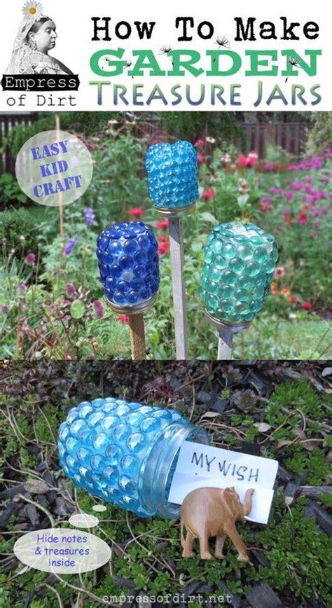How To Make Decoupage Waterproof - how to make garden treasure jars gardens glass jar with