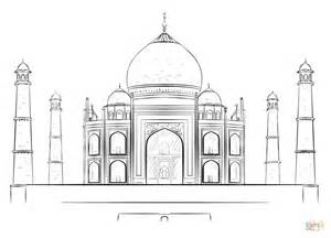 taj mahal palace coloring page free printable coloring pages