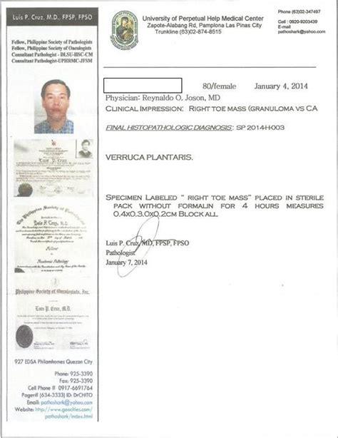 pathology report template rojoson clinic