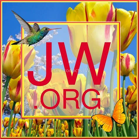 jw org logo art quot jw org logo with tulips and humingbird quot by funproductsjw