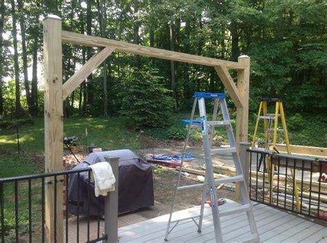 cantilever pergola plans hometalk cantilevered pergola diy designed and built