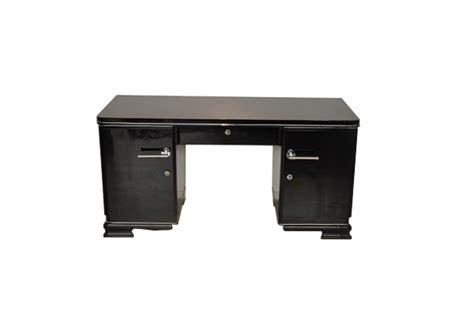 schmaler schreibtisch black deco desk original antique furniture
