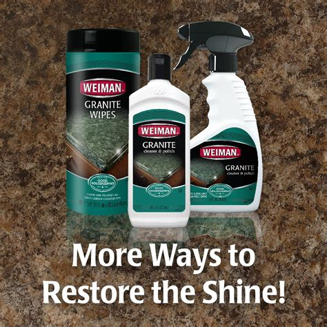 How To Clean Granite Countertops Daily by Weiman Granite Cleaner Daily Use Streak Free Formula For Countertops