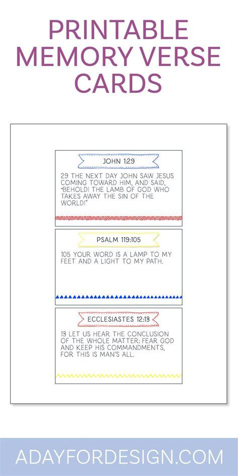 Bible Verse Memory Card Template by De 3738 B 228 Sta Printables Bilderna P 229