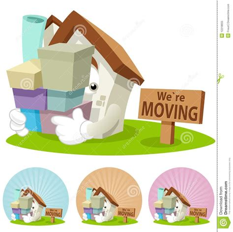 free houses to move house cartoon mascot moving house stock illustration image 12218655