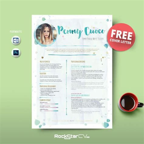 free creative resume templates for teachers resume template free cover letter cover letters free