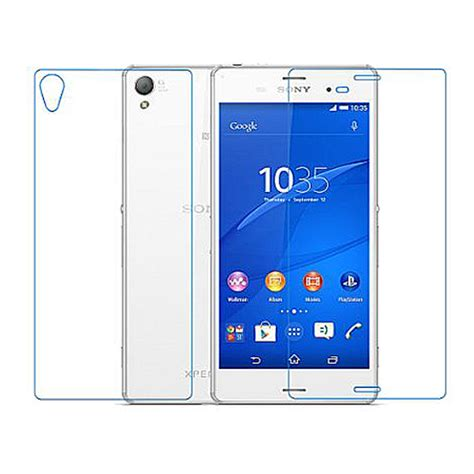 Diskon Sony Z Tempered Glass B Top Clear front back ultra clear tempered glass screen protector part for sony xperia z3 ebay