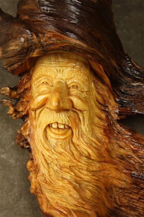 wood spirit timber  wood carving  gary wiz burns