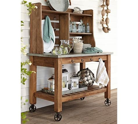 Patio Hutch abbott zinc top buffet hutch entertaining potting benches and outdoor
