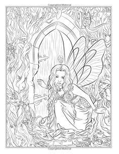 libro fairy companions coloring book pin de mehgan lott en mermaid coloring colorear sirenitas y p 225 ginas para colorear