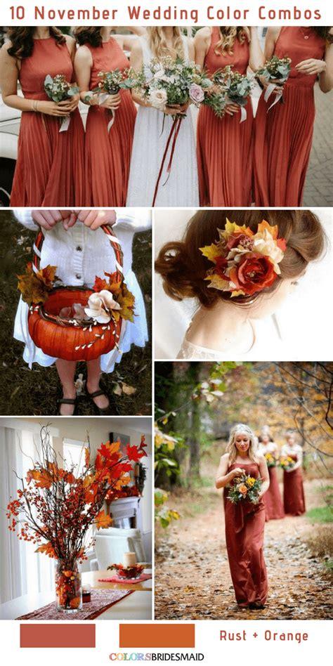 november colors 10 gorgeous november wedding color palettes in 2018