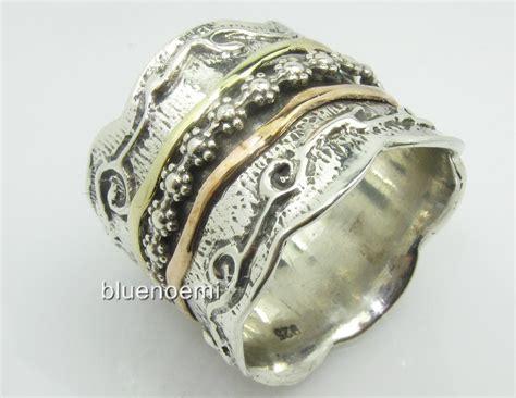 israeli jewelry spinning ring silver gold wedding sizes ebay
