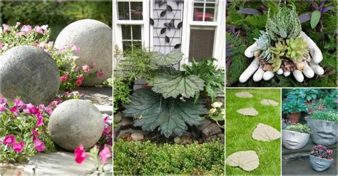 Concrete Garden Decor Diy Concrete Garden Decor That Will The Show For Sure