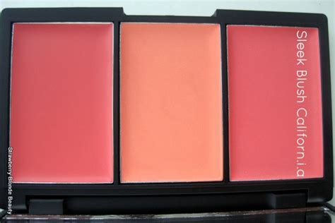 Sleek Makeup Blush By 3 Californ I A sleek blush by 3 palettes pink lemonade californ i a review swatches strawberry