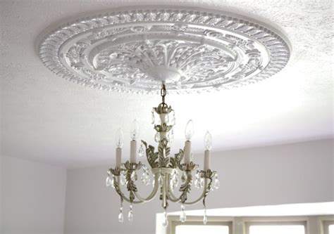 How To Install A Ceiling Medallion by Install A Ceiling Medallion Small Notebook