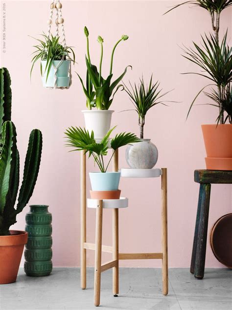 satsumas plant stand ikea satsumas trippelpiedestal i lackat st 229 l och bambu design