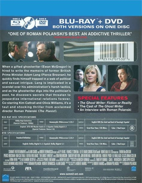 The Ghost Writer Raydvd Combo ghost writer the dvd combo 2010 dvd empire