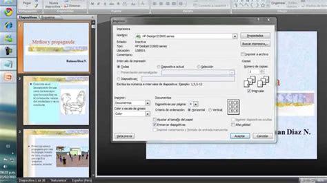 imprimir imagenes en varias hojas como imprimir varias diapositivas en power ponit youtube