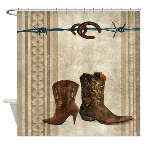 Western Shower Curtains Primitive Western Cowboy Boots Shower Curtain By Listing Store 62325139