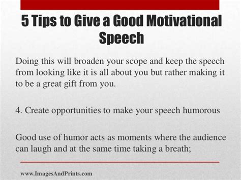 Sle Of A Speech About Yourself 5 tips to give a motivational speech