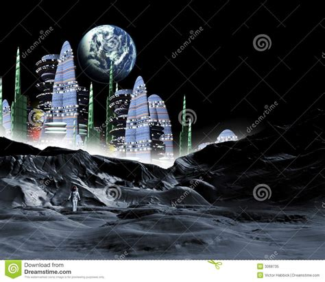 moon city stock illustration illustration  tourism