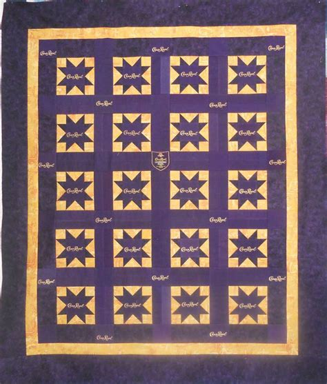 quilt pattern using crown royal bags pin by dolly louque oubre on quilting pinterest