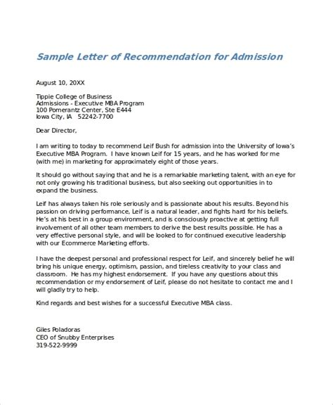 Recommendation Letter For College Doc letter of recommendation sle letters free sle