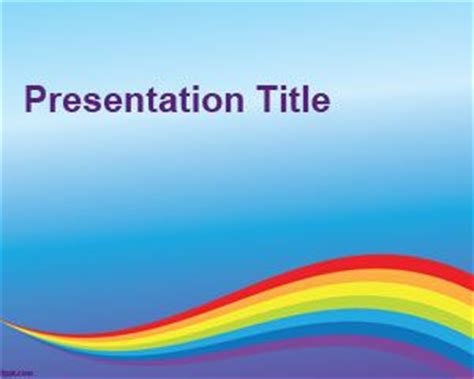 rainbow colorful powerpoint template backgrounds slide design