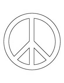 Peace Sign Template by Peace Sign Pattern Use The Printable Outline For Crafts