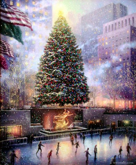 images of christmas paintings 40 beautiful christmas paintings for your inspiration part 2