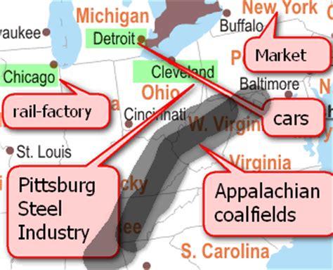 factors of industry location location factors iron ore coalfield industrial inertia