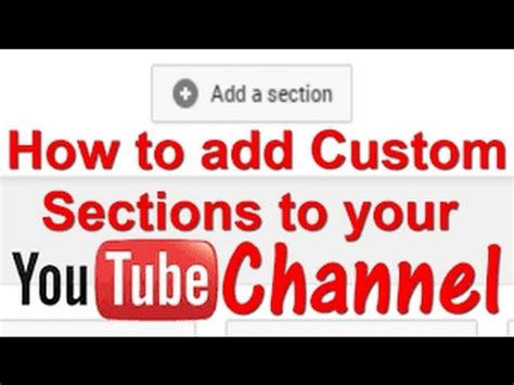 youtube add section youtube channel how to add section in youtube youtube