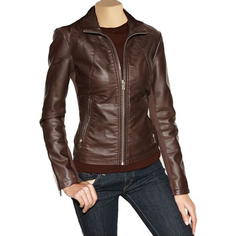 brown leather jacket leather jackets brown womens coat nj