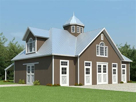 barn garage plans horse barn plans horse barn outbuilding plan 006b 0003