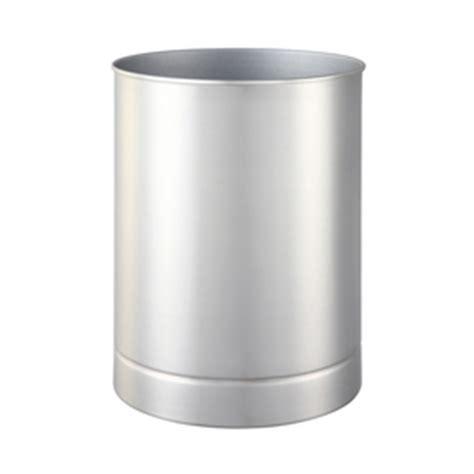 brushed nickel wastebasket bathroom shop allen roth maxton brushed nickel metal wastebasket at lowes com