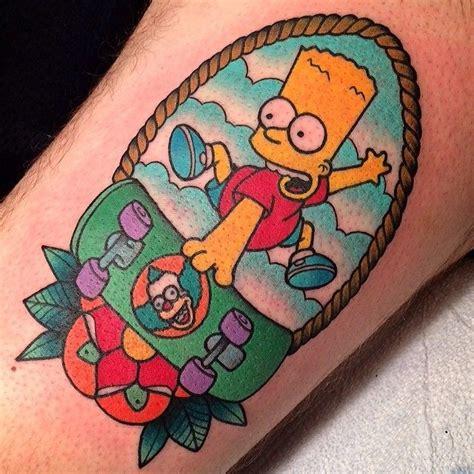 bart tattoo best 25 simpsons ideas on burn