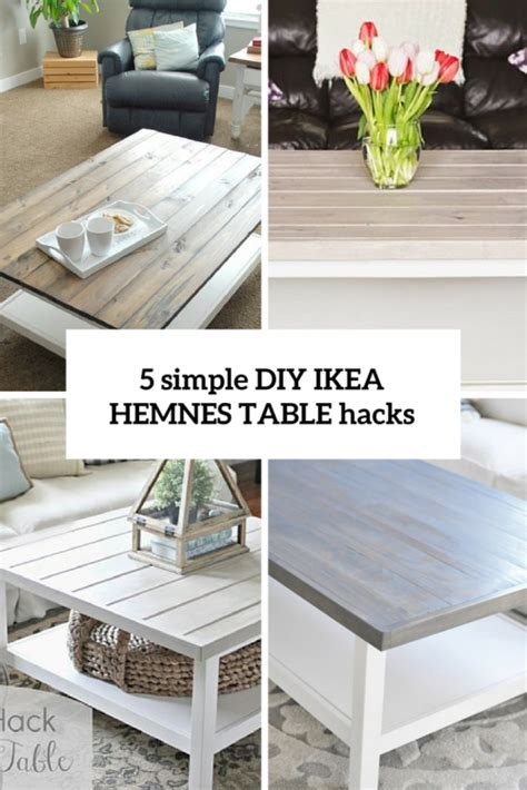 ikea coffee table hack 5 simple diy ikea hemnes coffee table hacks shelterness