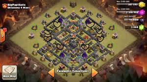 Of clans clan war base th9 2 3clash of clans clan war base th9 2