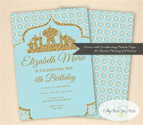 Arabian Themed Invitations Cloudinvitation Com Nights Invitation Template