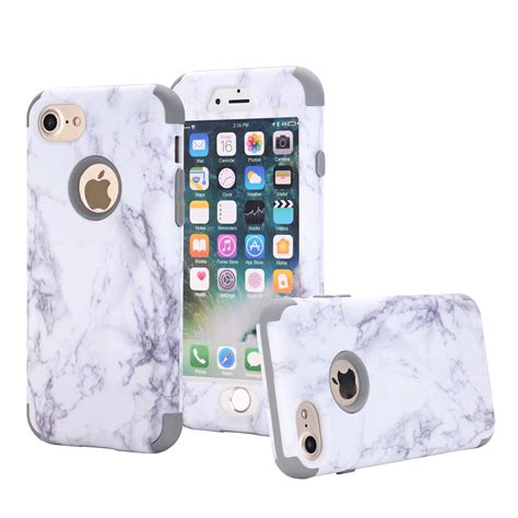 Iphone 6 6s Plus Marble Texture Gray Hardcase granite marble pattern protective pc cover for iphone 6 6s plus ebay