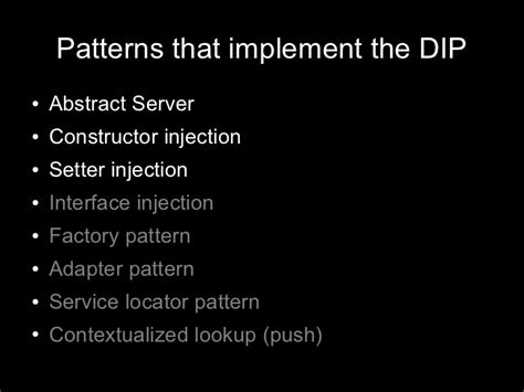 dependency injection constructor setter dependency injection dependency inversion and dependency injection in php