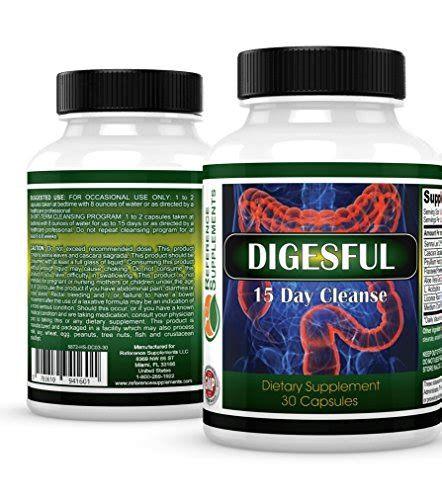 Fast Acting Detox Pills by Reference Supplements Colon Cleanse Pills 30 Caps