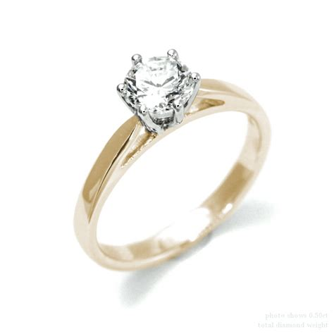 0 5 carat solitaire real engagement ring 18k white