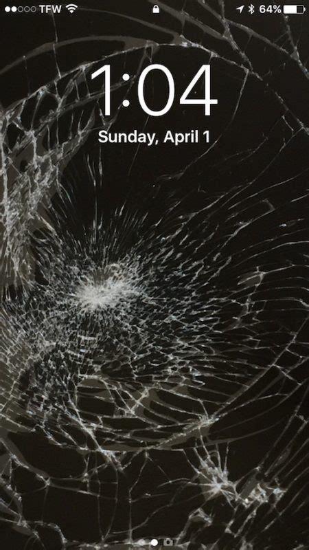april fools  broken screen wallpaper prank  iphone