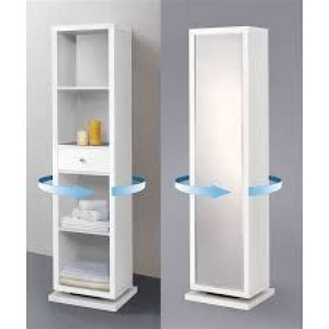 rotating storage cabinet with mirror rotating mirror cabinet 1800x340x280 white