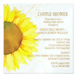 couples bridal shower invitations templates autumn sunflower wedding shower invitations 5 25