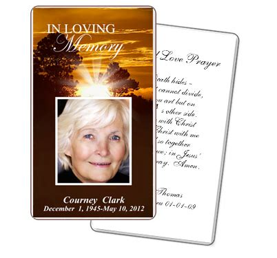 Free Printable Funeral Card Templates by Free Printable Funeral Prayer Card Template Vastuuonminun