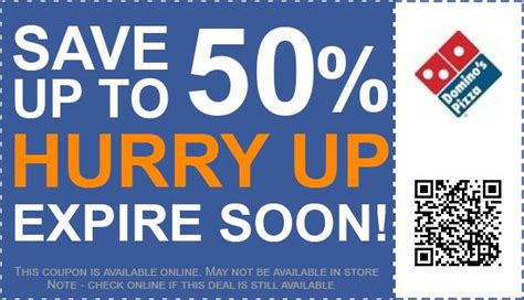 discount vouchers dominos 50 off dominos uk coupons vouchers for may 2018